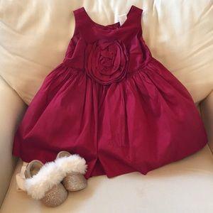 Silk Red Holiday Dress